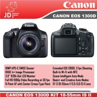 CANON EOS 1300D KIT 18-55MM IS II -DSLR CANON EOS 1300D KIT BLACK