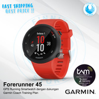 GARMIN Forerunner 45 GPS Running Smartwatch GARMIN Coach Training Plan - Merah