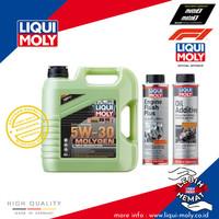 [Paket Ganti Oli Mobil] Molygen+Engine Flush Plus+Oil Additive