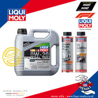 [Paket Ganti Oli Mobil] Special Tec AA+Engine Flush+Oil Additive