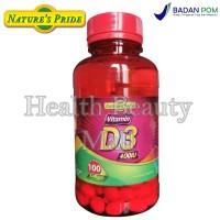 Nature's Pride Vitamin D3 400IU 100 Softgels Menjaga Kesehatan Tulang
