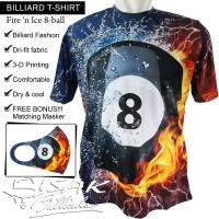 T-shirt Billiard - Fire 'n Ice 8-ball Kaos Dri-fit Oblong ISAK Pool