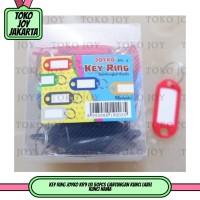 Key Ring JOYKO KR9 isi 50pcs Gantungan Kunci Label Kunci Nama