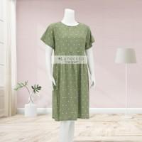 Lunaci Mint Polkadot Midi Dress