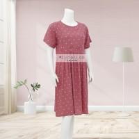 Lunaci Pink Polkadot Midi Dress