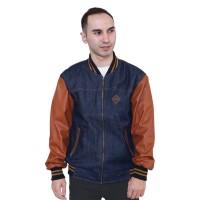 100%Ori RAINDOZ Jaket Jeans Trucker Jacket Pria Levis Denim MER0XI
