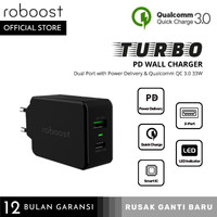 roboost Dual Port USB Turbo Charger Fast Charging Type C PD Max 33W