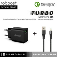 roboost Turbo Mini Travel Set Fast Charger for iPhone 7 8 10 11