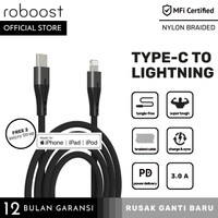 roboost Kabel Data Apple iPhone Fast Charging USB C-Lightning PD Cable
