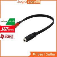 Kabel Adapter Audio 3.5mm Female ke RCA Male HiFi 25cm - Black