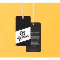 Hang Tag Label / Hang Tag Baju / Pakaian / Kartu Ucapan - Art Carton 210g, Custom Size