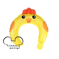 Balon Bando Karakter Ayam / Animal Headband / Balon Bando Anak