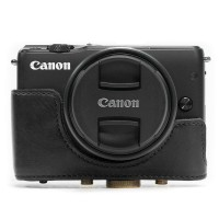 CANON EOS M10 / M100 / M200 LEATHER BAG / CASE / TAS KULIT KAMERA