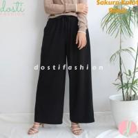 Celana Panjang Wanita Hitam Model Celana Muslimah Muslim Palazzo 2018