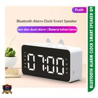 Jam Alarm Q9 Bluetooth Digital Speaker - Putih