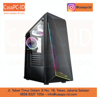 Casing PC Case Infinity NEBULA V2 RGB Front Panel Gaming Case