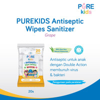 Pure Kids Antiseptic Wipes Sanitizer 20s