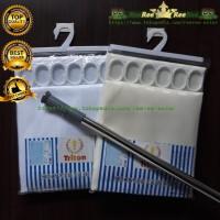 Tiang shower curtain Set / Tiang dan Tirai Kamar Mandi Complete Set