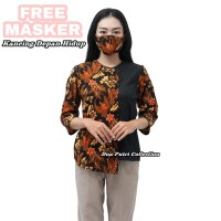 Batik Wanita Modern Blouse Atasan FREE MASKER - M