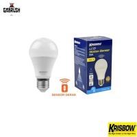 Lampu bohlam sensor gerak 9w LED motion sensor Krisbow