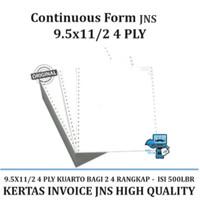 Kertas Continuous Form JNS Ukuran Kuarto bagi 2 - 4 PLY