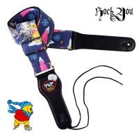 Strap Gitar Winnie The Pooh BONUS Pick Tali Sabuk Rock You S-617