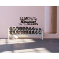 Cutting Sticker Gym Fitness Pain Wallstiker Hiasan Dinding Quotes Moti