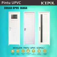 Pintu Kamar Mandi UPVC + Gagang / Kunci / Hendel /Handle