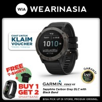 Garmin Fenix 6X Smartwatch Carbon Gray DLC Black Band Garansi TAM