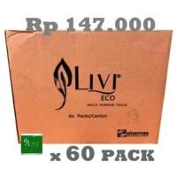 Tissue Livi Eco Multipurpose Pop Up 150 Sheets 2Ply hargamurah