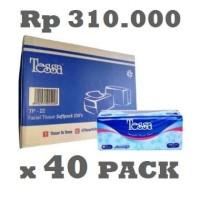 Grosir Tissue Tessa 250 sheets 2ply hargamurah (Dus)