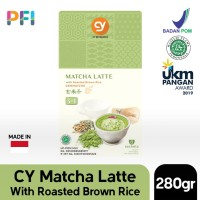 CY Matcha Latte with Roasted Brown Rice (Genmaicha Latte)