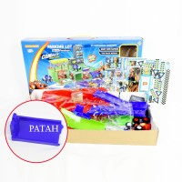 SALES AS IS Mainan Anak Parking Lot Monster Truck Track Play Set Blaze