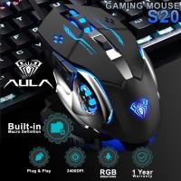 Mouse Gaming AULA S20 – 2400DPI RGB Driver Macro Software