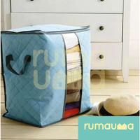 RUMAUMA Storage Bag Organzier Handles Tempat Penyimpanan Pakaian Rumah