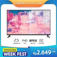 [HOT PRODUCT] COOCAA 42 inch Full HD - Smart TV - TV Android 9 - Wifi