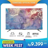 COOCAA 65 inch 4K Smart TV - TV Android 10.0 (Pertama di Indonesia)