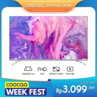 COOCAA 43 inch Android 9.0 Smart LED TV- FHD- Built in Netflix (43S6G)