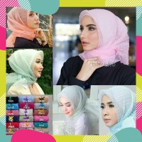 Jilbab Kerudung SEGI EMPAT Segiempat Organza Dot TERBARU