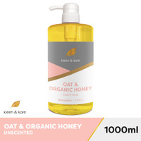 Natural Oat & Organic Raw Honey Castile Soap 1000ml Unscented - Sabun