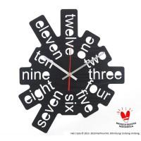 Jam Dinding Unik Artistik - One Two Three 1 Wall Clock