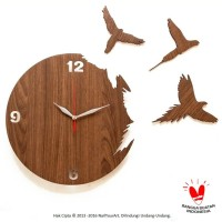 Jam Dinding Unik Artistik - Flying Bird Wall Clock
