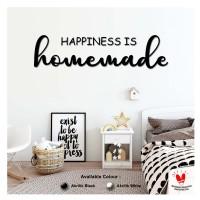 Hiasan Dinding AKRILIK - HAPPINESS IS HOMEMADE - Kamar Anak/Ruang Tamu