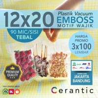 Plastik Vacum Krisbow ACE 12x20 / Vacuum Bag Embossed