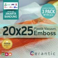 Plastik Vacum Krisbow ACE 20x25/ Vacuum Bag Embossed