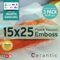 Plastik Vacum Krisbow ACE 15x25 / Vacuum Bag Embossed