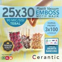 Plastik Vacum Krisbow ACE 25x30/ Vacuum Bag Embossed