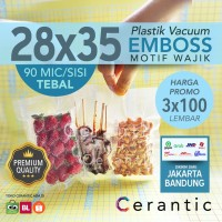 Plastik Vacum Krisbow ACE 28x35/ Vacuum Bag Embossed