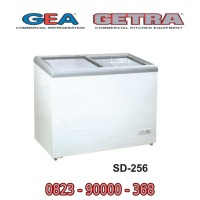 GEA Freezer SD-256 Kulkas Freezer Es Krim Sliding Flat Glass Freezer