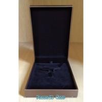 Kotak Perhiasan Stelan Kalung / Anting / Cincin - Gold